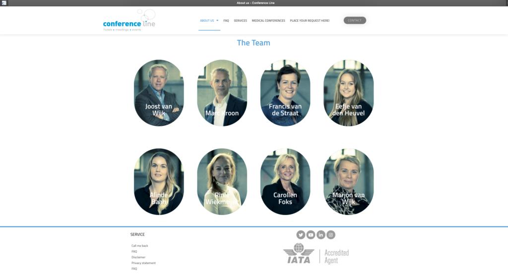Portretten, gecombineerd met teamshoot Conference Line International